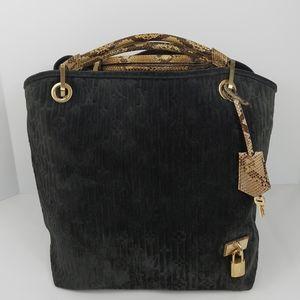 Louis Vuitton Suede Python Monogram GM Black Bag